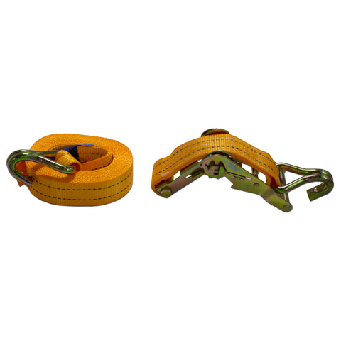 AA Products Heavy Duty Ratchet Tie Down Straps with Double J-Hooks (RS)