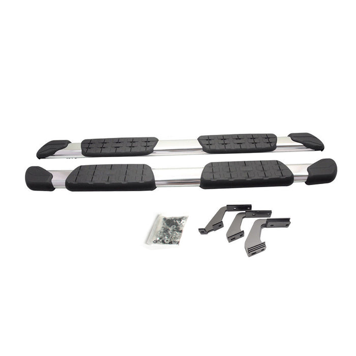 AA Products Fit 07-18 Toyota Tundra 5'' Side Steps Rail | Nerf Bars | Running Boards 2PC w/ Mounting Bracket Kit (ST-(07-17)) - AA Products Inc