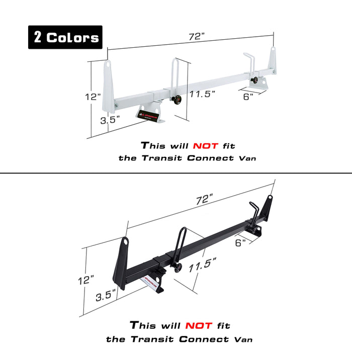 AA-Racks Rooftop Cargo Van Ladder Roof Racks Steel for Ford Transit 2015-On (X202-TR) - AA Products Inc