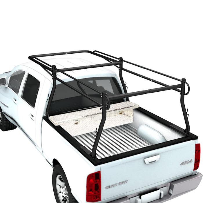 AA Racks Heavy Duty Pickup Truck Ladder Rack Universal for Ford Chevy Dodge Utility Lumber Kayak (X3901-SC/LC) - AA Products Inc