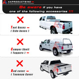 AA-Racks No Drilling Aluminum Ladder Rack Single Bar Pickup Truck Ladder Rack (Fits: Toyota Tacoma 2005-On) - (APX25-A-TA) - AA Products Inc