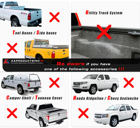 AA-Racks APX25 Adjustable Aluminum Pickup Truck Rack No Drill Ladder Rack - Black(APX25-BLK)/White(APX25-WHT)/Silver(APX25-SLV)