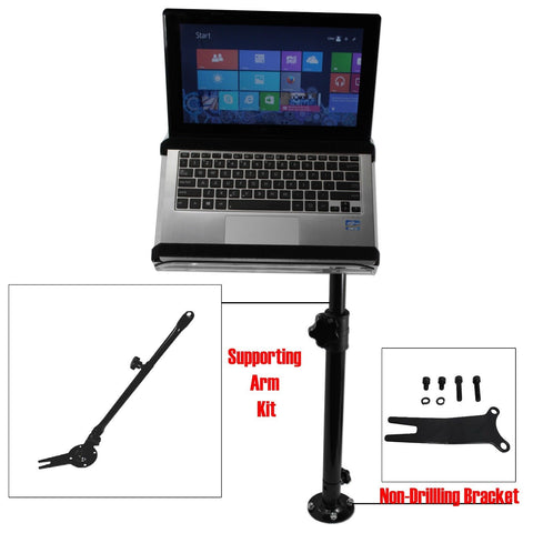 AA Products Universal Laptop Mount Stand Holder For Car With Non-Drilling Bracket and Supporting Arm Kit (K005-A3) - AA Products Inc