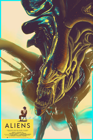 """Aliens"" (1986) - Officially Licensed & Limited Edition Movie Poster By Cristian Eres - Grey Matter Art Exclusive"
