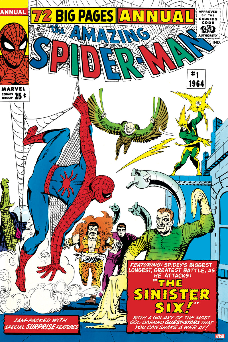 """The Amazing Spider-Man #1 Annual"" - Officially Licensed & Limited Edition - Marvel Comics Poster By Steve Ditko"