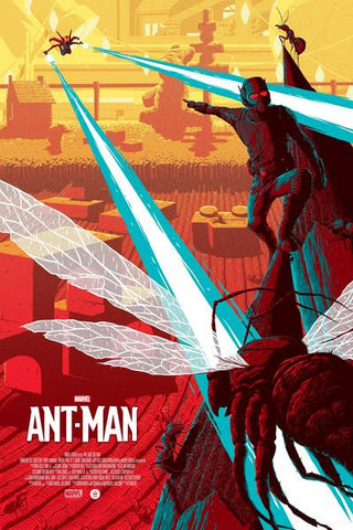 "Officially Licensed, Screen printed poster art - Florey - ""Ant-Man"" 24""x36"" Limited Edition - Marvel Comics Poster Art - Print Run: 225"