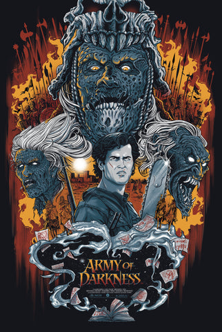 """Army of Darkness"" Glow in the Dark Variant Edition by Gary Pullin - Grey Matter Art"