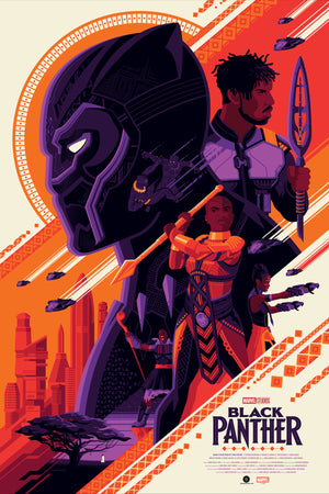 Black Panther Regular Edition by Tom Whalen