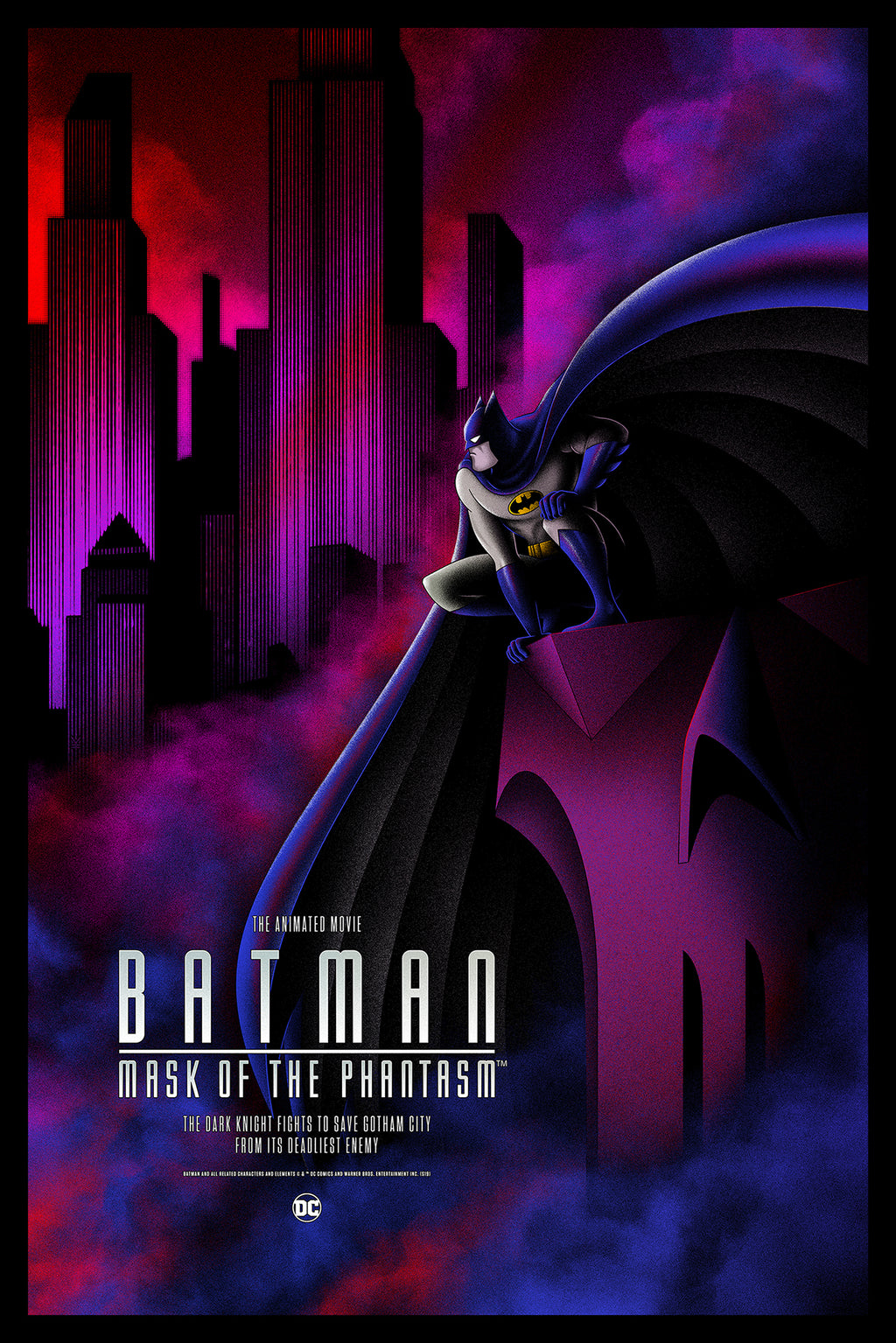 Batman: Mask of the Phantasm Red Foil Variant Edition by Bruce Yan