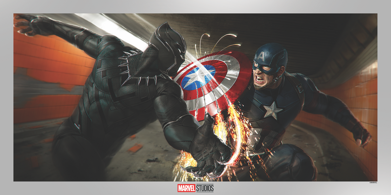 Captain America: Civil War Concept Art Foil Edition by Ryan Meinerding