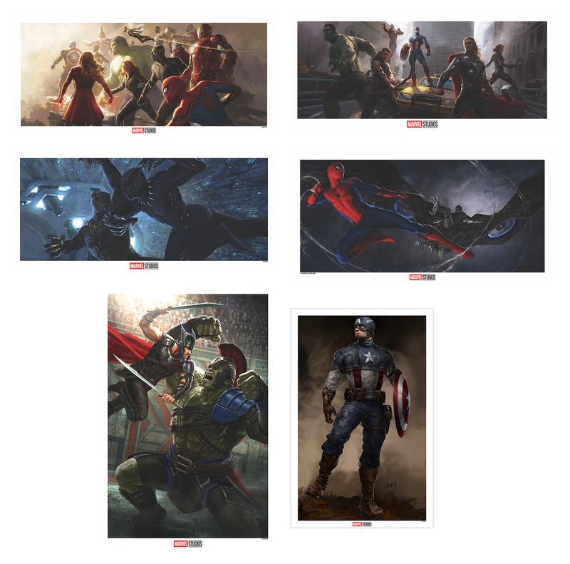 Marvel Concept Art Matching Number Set of 6