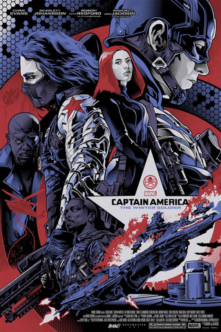 """Captain America: The Winter Soldier"" Regular Edition by Alexander Iaccarino - Grey Matter Art"