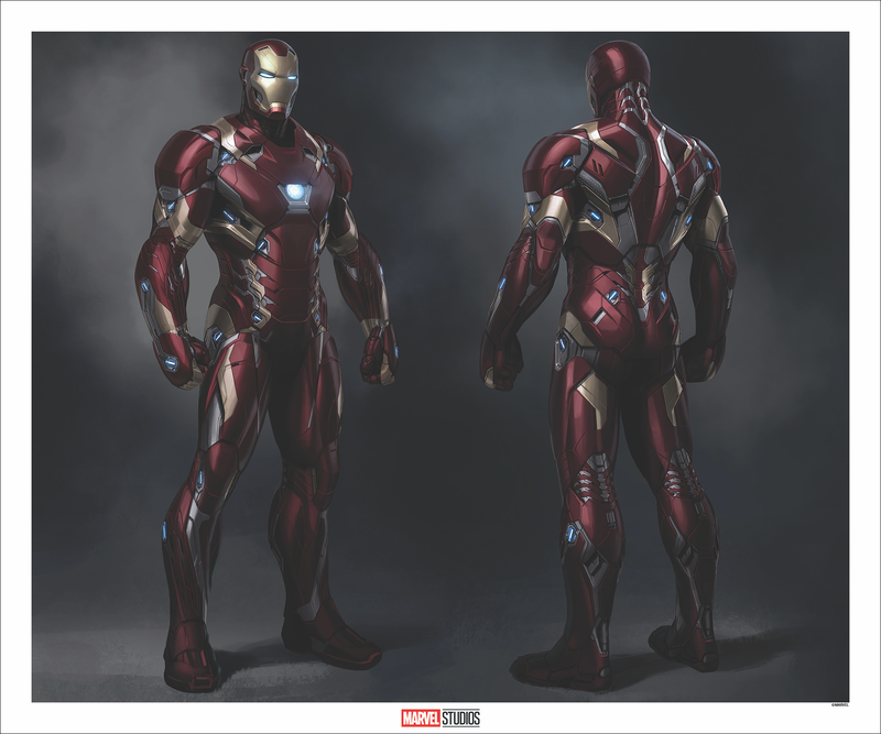 Iron Man MARK XLVI Concept Art by Phil Saunders