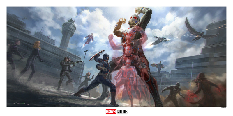 Captain America: Civil War Concept Art by Andy Park