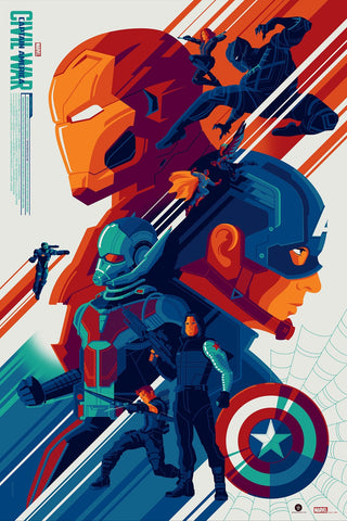 """Captain America: Civil War"" Variant Edition by Tom Whalen"