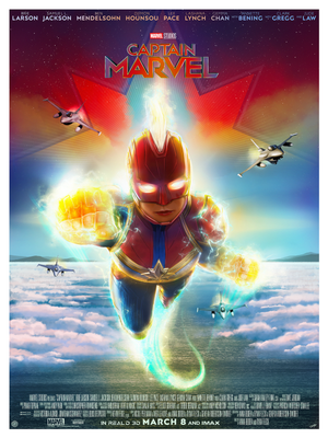 """Captain Marvel"" - Officially licensed & Limited Edition - (MCU) Marvel Cinematic Universe Movie Poster By Andy Fairhurst 
