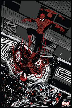 Spider-Man Vs. Carnage Noir Variant by Chris Thornley (Raid71)