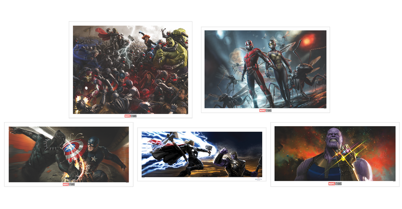 Marvel Concept Art Matching Number Set of 5