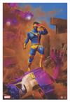 """X-Men"" (Cyclops) - Officially Licensed & Limited Edition - Marvel Comics Poster Art By Chris Skinner 