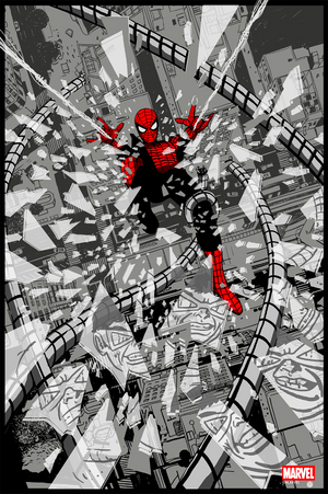 Spider-Man Vs. Doc Ock Noir Variant by Chris Thornley (Raid71)