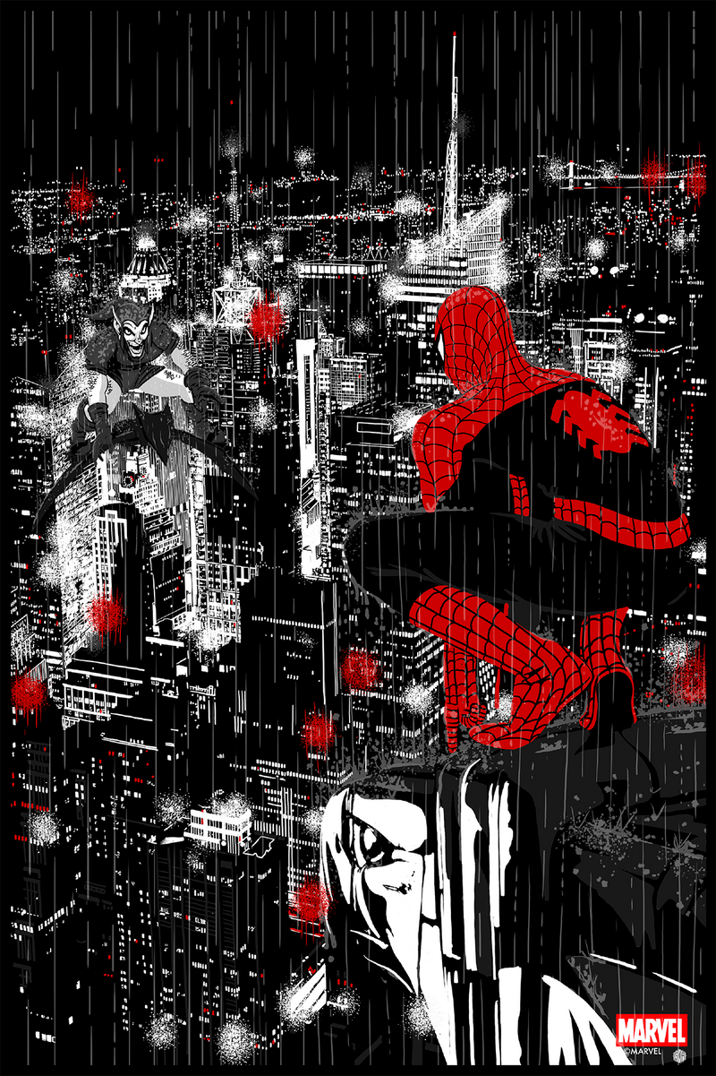 Spider-Man Vs. Green Goblin Noir Variant by Chris Thornley (Raid71)