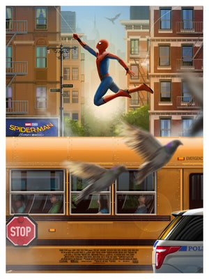 """Spider-Man: Homecoming"" - Officially Licensed & Limited Edition - Sony - Marvel Movie Poster By Andy Fairhurst - Grey Matter Art Exclusive"