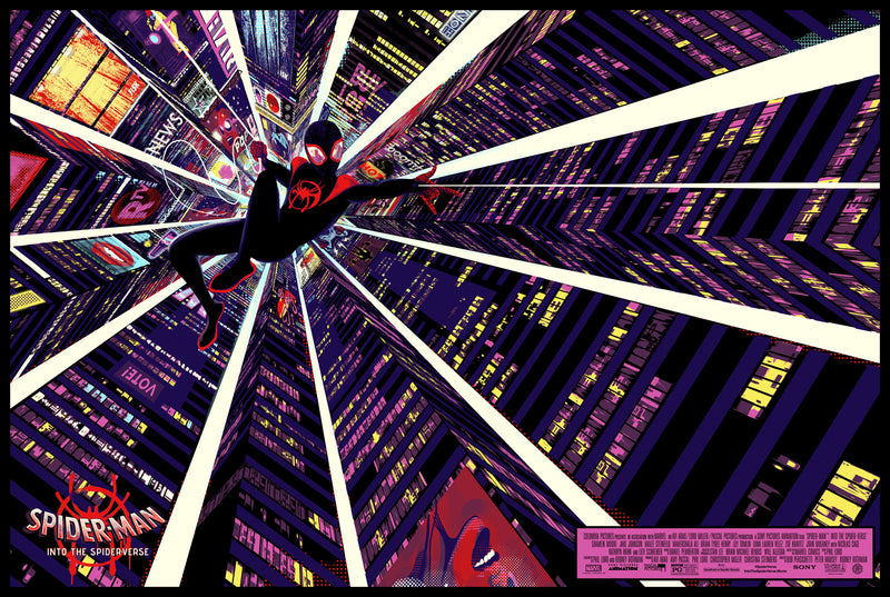 Into the Spider-Verse Paper Variant by Chris Thornley