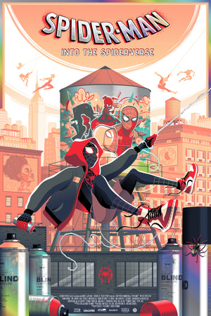 Into the Spider-Verse Foil Edition by Guillaume Morellec