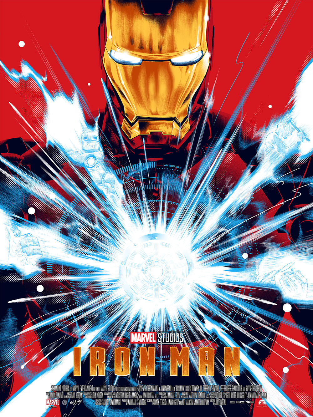 Iron Man Gold Foil Edition by Doaly