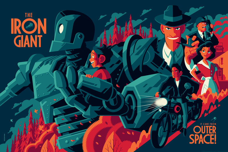 Iron Giant Variant Edition by Tom Whalen