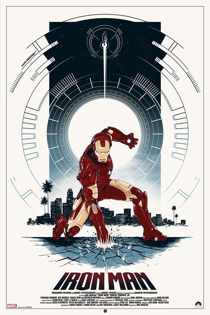 """Iron Man"" Regular Edition By Matt Ferguson - Grey Matter Art"