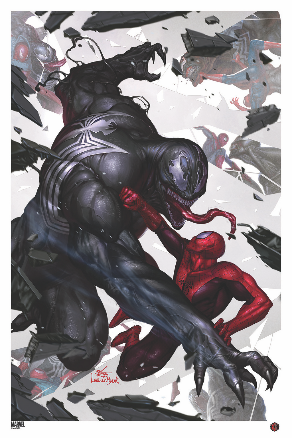 """Marvel Comics #1000"" (Variant) - Officially Licensed & Limited Edition - Marvel Comics Poster Art By InHyuk Lee"