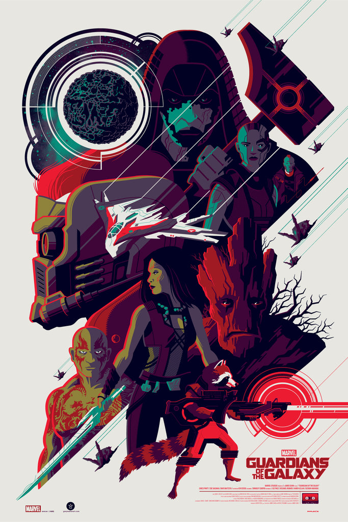 """Guardians of the Galaxy"" Variant Edition by Tom Whalen"