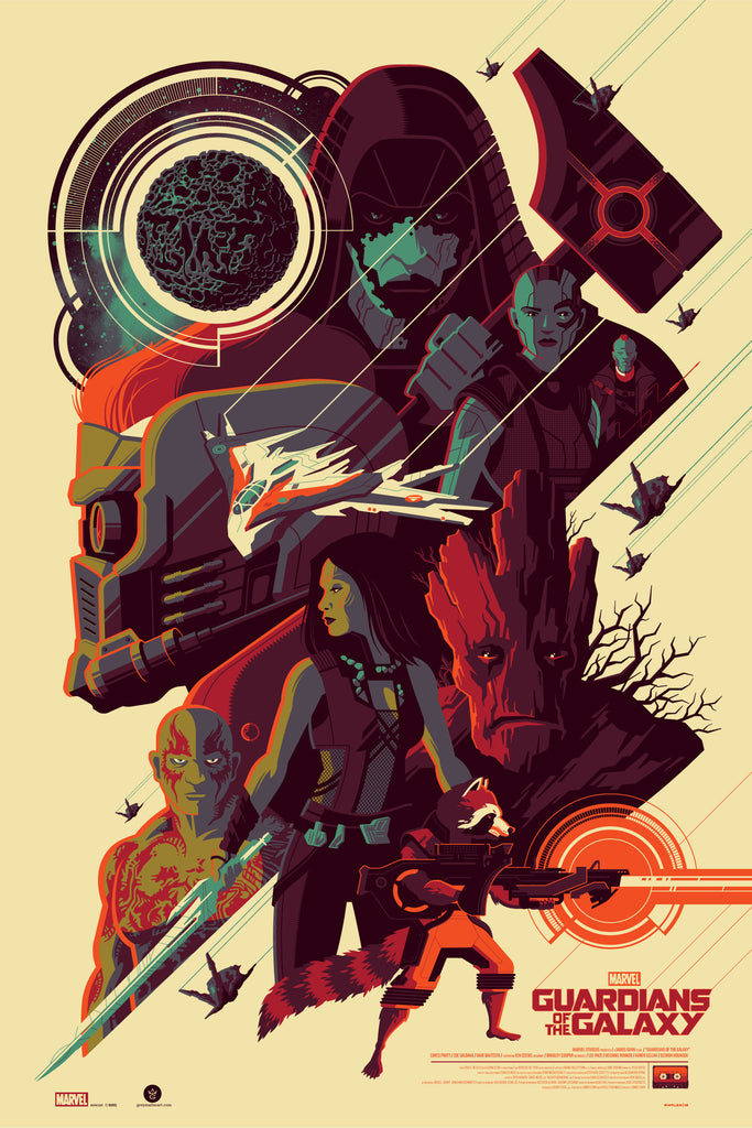 """Guardians of the Galaxy"" Regular Edition by Tom Whalen"