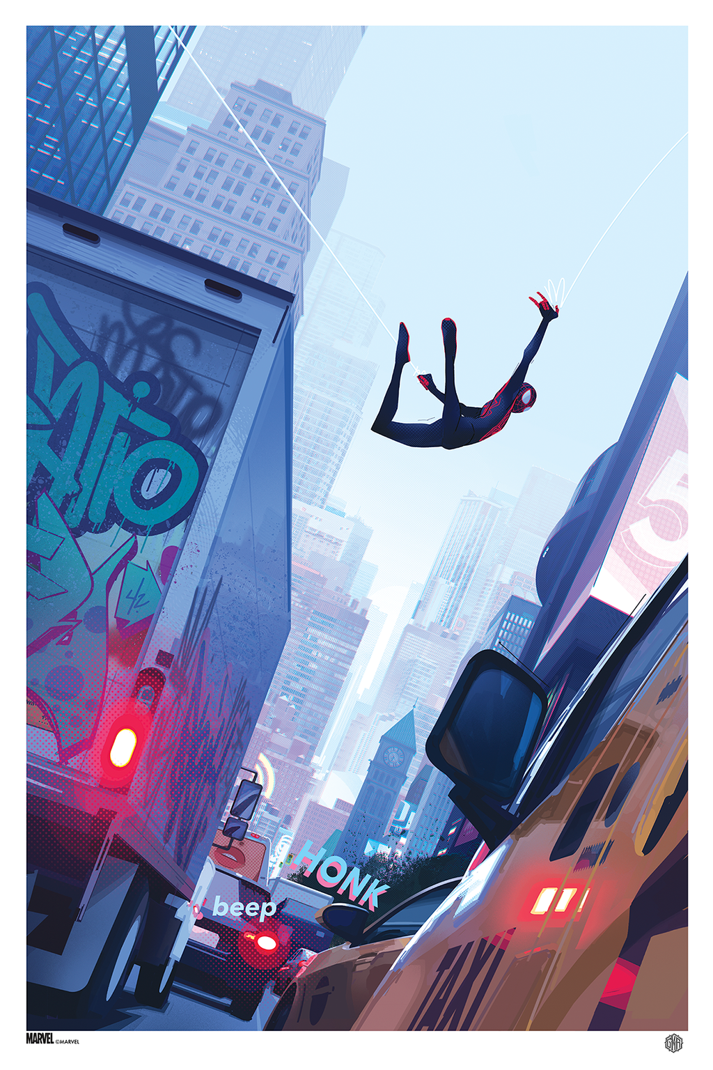 """Miles Morales: Spider-Man"" Official Marvel Comics Poster Art By Patrick O'Keefe"