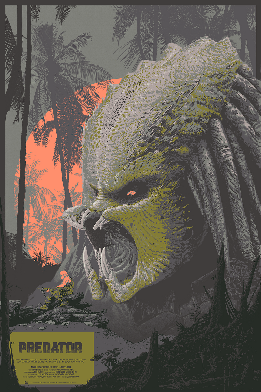 """Predator"" (1987) - Officially Licensed & Limited Edition Movie Poster By Cristian Eres 