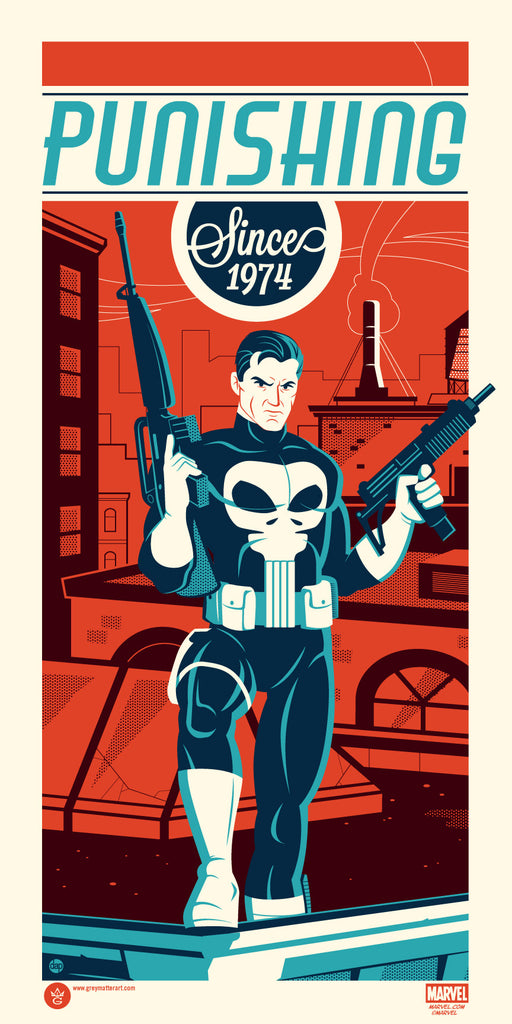 Marvel's Punisher by Dave Perillo - Grey Matter Art