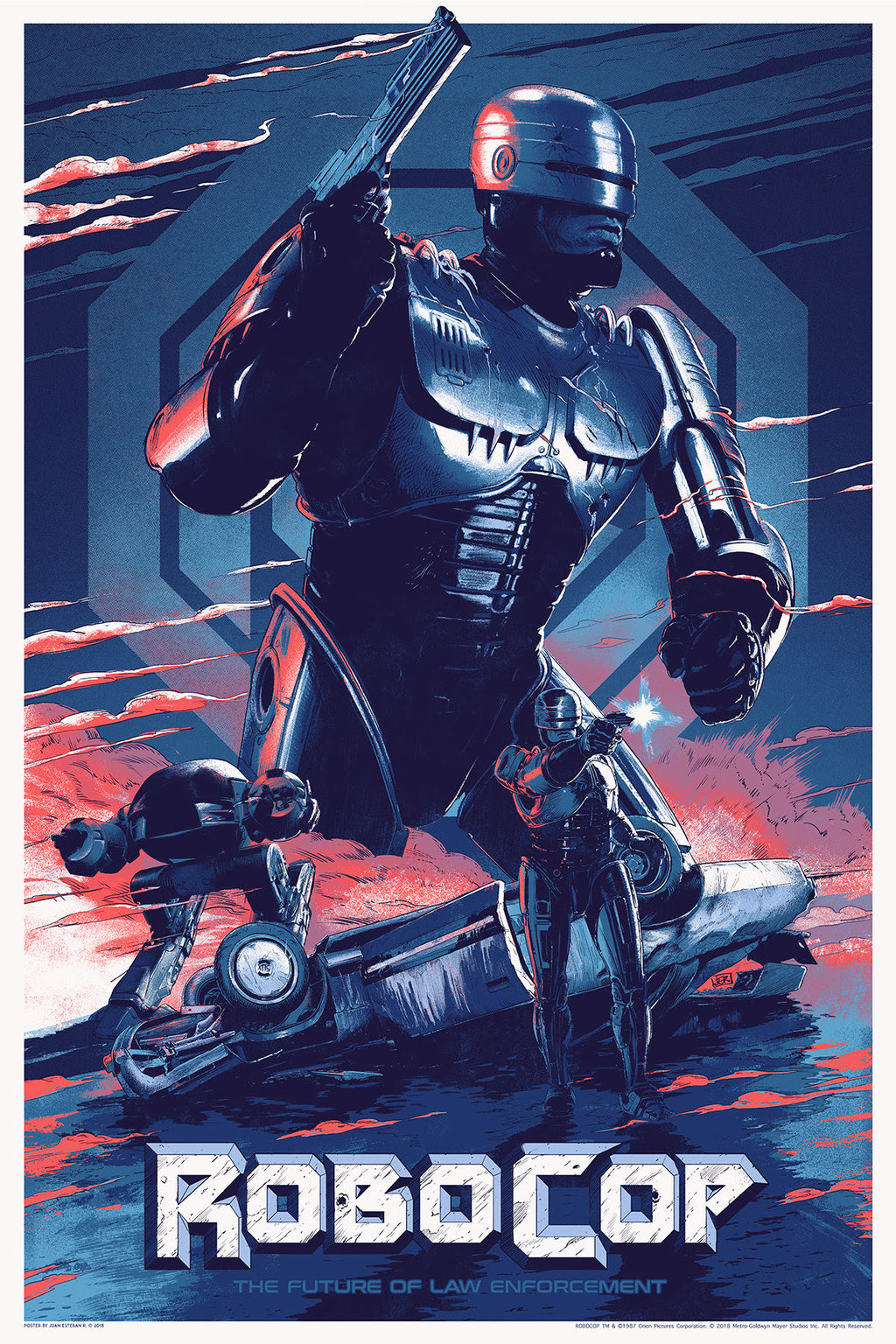 """Robocop"" (1987) - Officially Licensed & Limited Edition - Movie Poster By Juan Esteban Rodriguez 