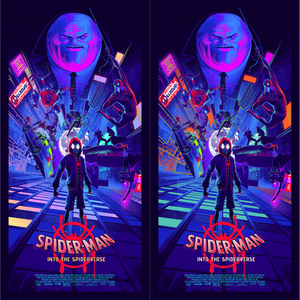 Spider-Man: Into the Spider-Verse Matching Number Set by Juan Ramos