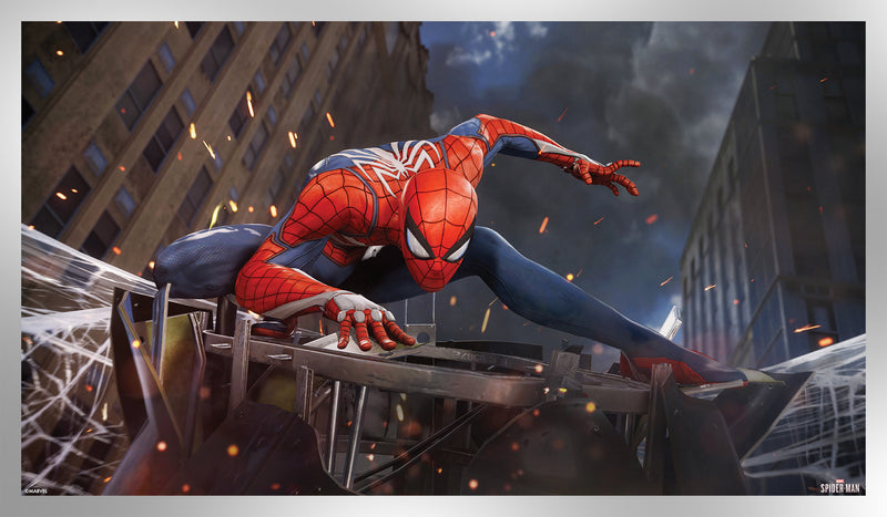 Spider-Man Game Art Silver Foil Variant Edition #2