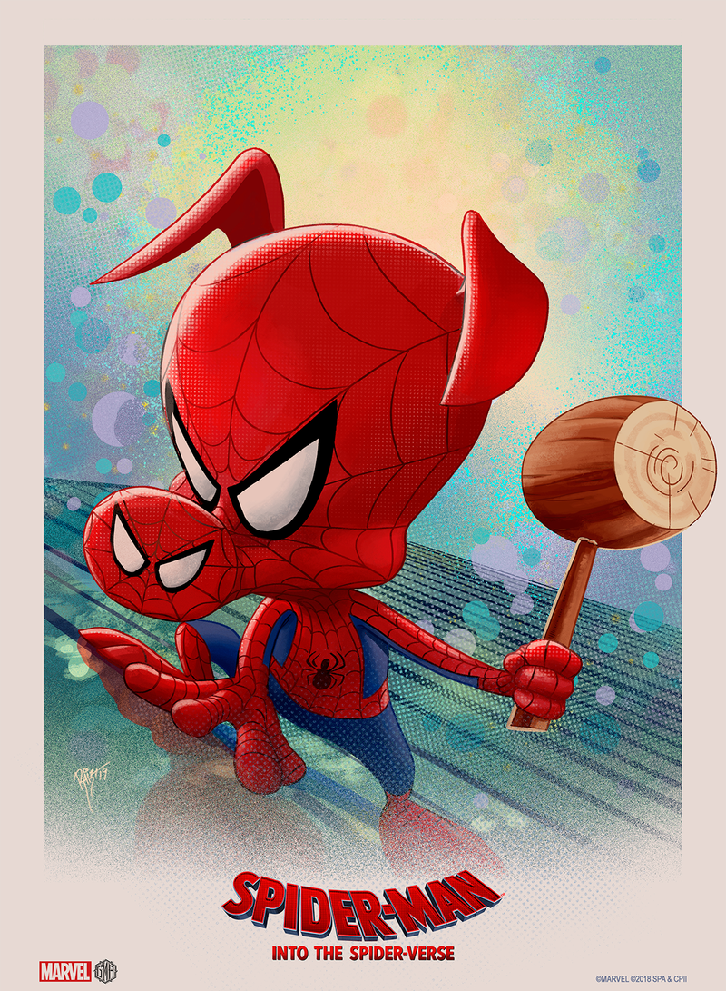 """Into the Spider-Verse"" - Spider-Ham (Spider-Man) Officially Licensed & Limited Edition - Sony - Marvel Movie Poster By Ruiz Burgos"
