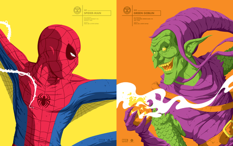 Spider-Man & Green Goblin Set by Florey