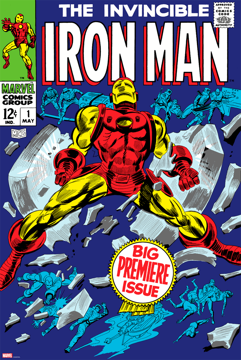 """The Invincible Iron Man #1"" - Silver Age Marvel Comics Cover Art - Officially licensed & Limited Edition - Marvel Comics Poster By Gene Colan, Johnny Craig & Mike Esposito"