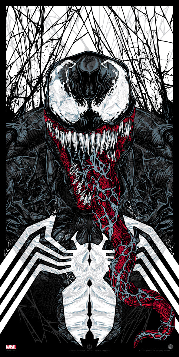 """Venom"" Officially Licensed & Limited Edition - Marvel Comics Poster Art By Artist Rhys Cooper 
