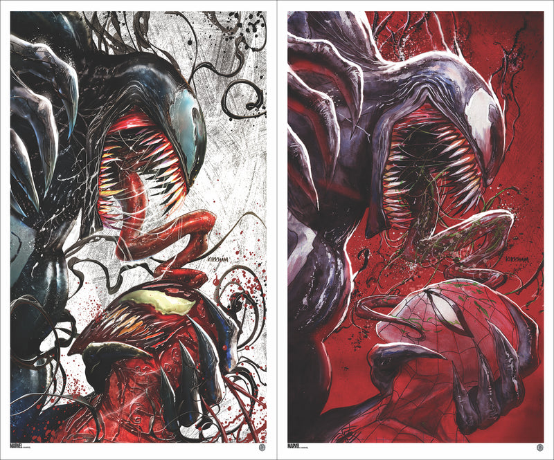 Venom #18 Cover A & B Matching Number Set by Tyler Kirkham