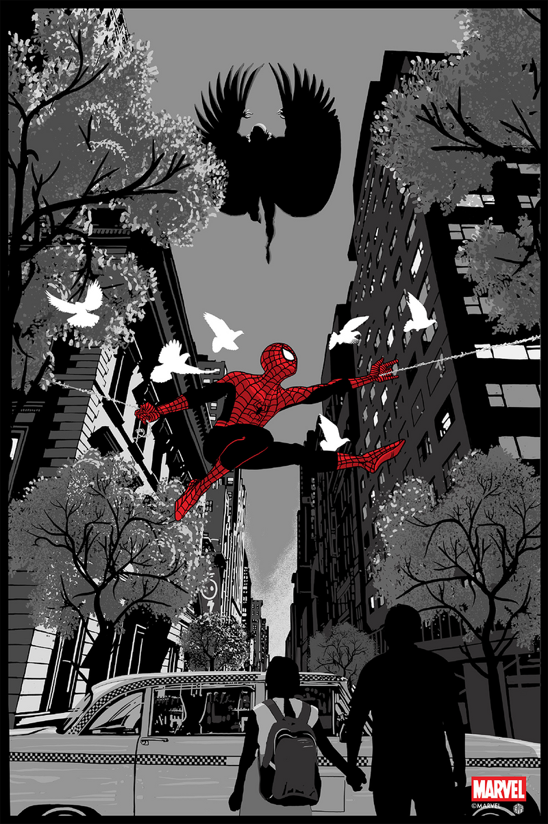 Spider-Man Vs. Vulture Noir Variant by Chris Thornley (Raid71)