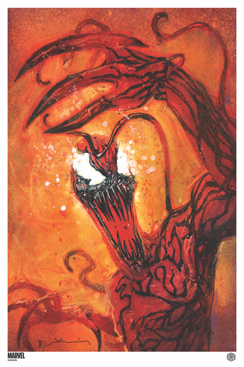 """Venom: Carnage Born #1"" - Officially Licensed & Limited Edition - Marvel Comics Poster Art By Bill Sienkiewicz"