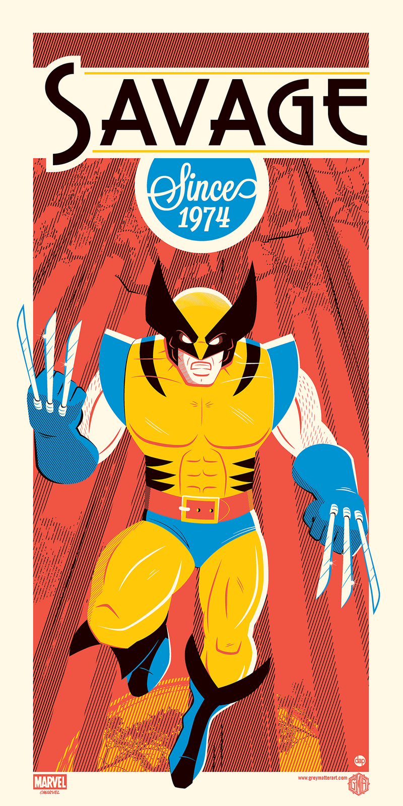 """Wolverine"" - Officially Licensed & Limited Edition - Marvel Comics Poster By Dave Perillo 