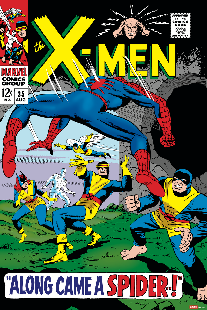 X-Men #35 Cover Art by Dan Adkins, Sam Rosen, & Stan Goldberg