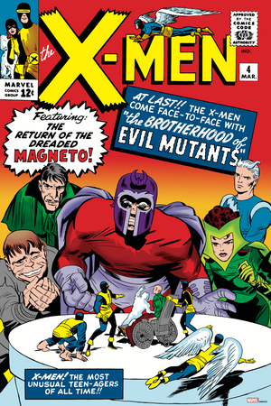 X-Men #4 Story by Stan Lee - Cover Art by Jack Kirby
